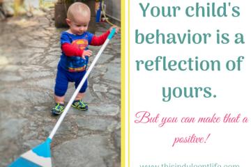 child mimics parents | children's behavior like parents | gentle parent | positive parenting | This Indulgent Life