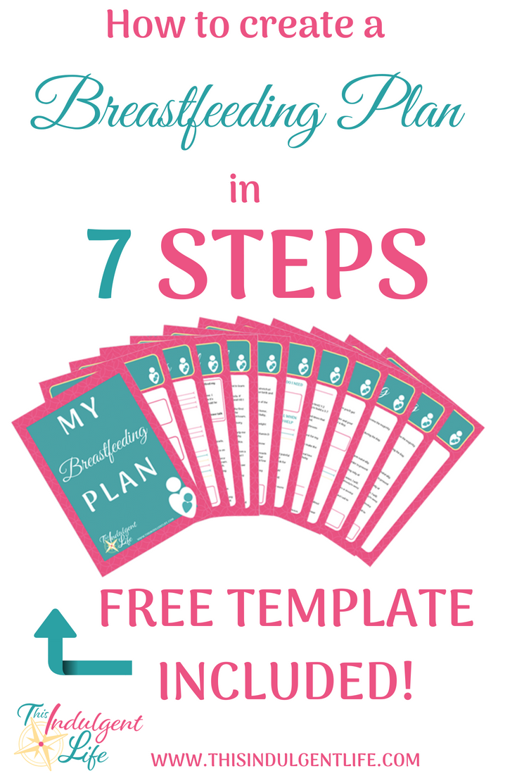 How to Create a Breastfeeding Plan in 7 Steps | This Indulgent Life | Create a detailed plan of action to set yourself up for breastfeeding success. From birth to weaning this comprehensive breastfeeding plan workbook helps you think of every stage.