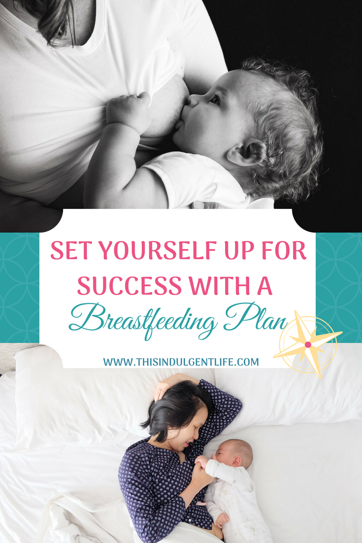 Set Yourself Up For Success With A Breastfeeding Plan | This Indulgent Life | Create a detailed plan of action to set yourself up for breastfeeding success. From birth to weaning this comprehensive breastfeeding plan workbook helps you think of every stage.