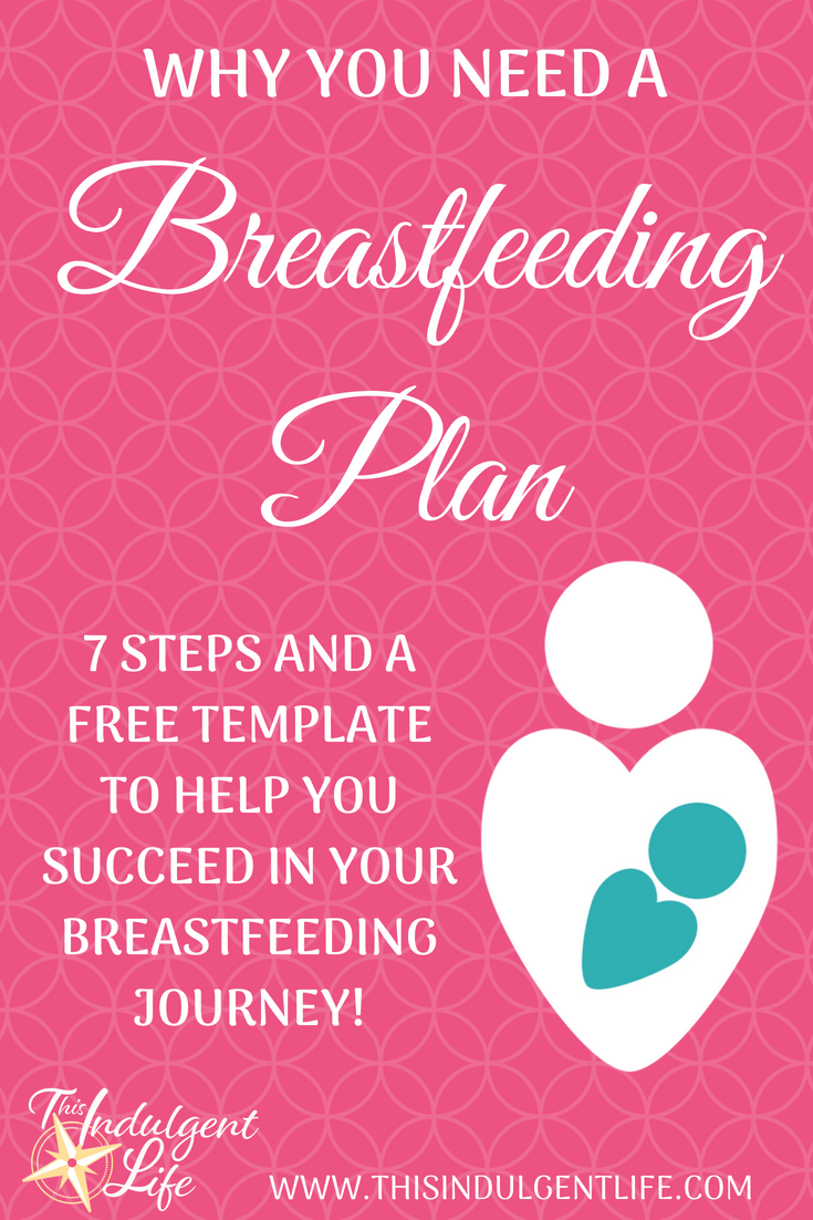 Why You Need A Breastfeeding Plan-7 Steps And A Free Template To Help You Succeed In Your Breastfeeding Journey | This Indulgent Life | Create a detailed plan of action to set yourself up for breastfeeding success. From birth to weaning this comprehensive breastfeeding plan workbook helps you think of every stage to meet your breastfeeding goals.
