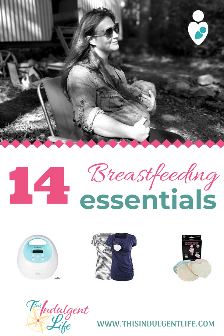 14 Breastfeeding Essentials | This Indulgent Life | 14 categories of products that I couldn't live without on my breastfeeding journey. From breast pumps to clothing, these breastfeeding essentials helped make my journey a success. #breastfeeding #breastfeedingessentials #breastfeedingsnacks #breastpump #nursingbra #nursingshirts #pumpingessentials
