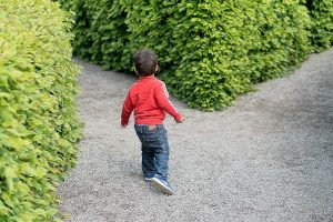child making a choice