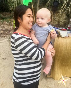 meet our domestic helper Theresa-on the beach