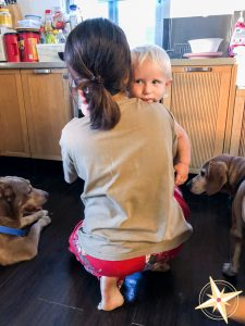 meet our domestic helper Theresa-hugging