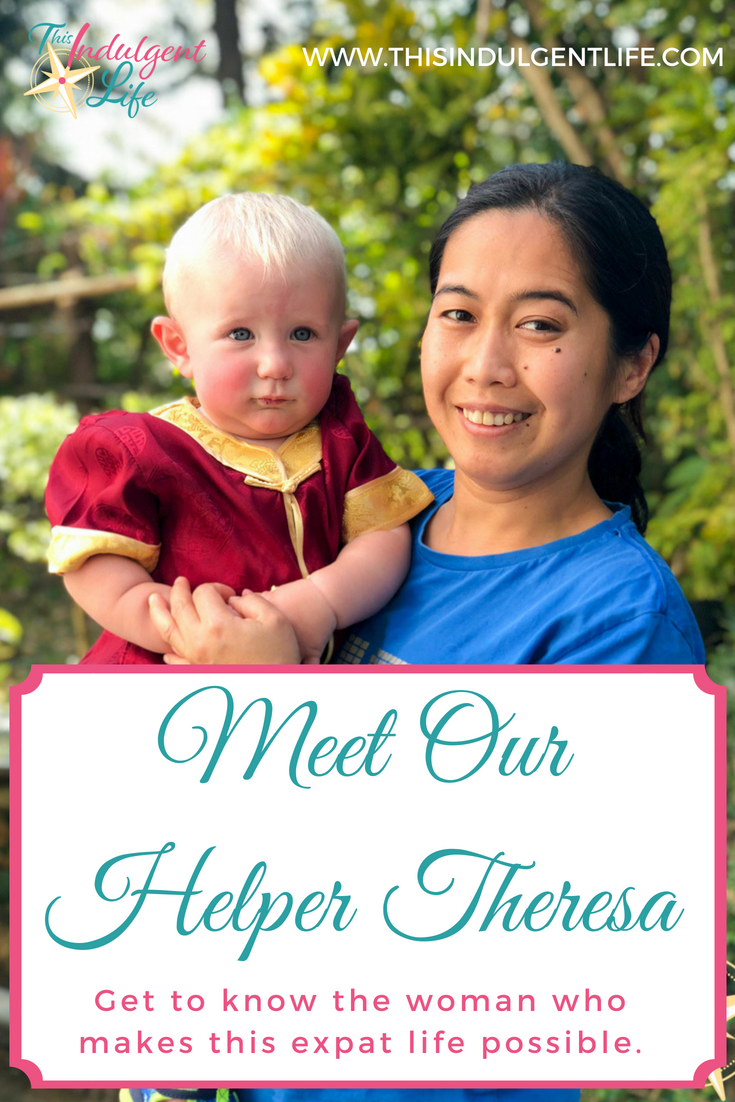 Meet our helper Theresa on Tuesdays With Theresa | This Indulgent Life | These videos explain just how important Theresa, our domestic helper, is to us here in Hong Kong. | #thisexpatlife #thisadventurouslife #domestichelper #hongkong #childcare #expat #expatlife #expatwithkids #interviews #theresa #Filipina #Philippines #tuesdayswiththeresa #teachingabroad #livingabroad #lifewithatoddler #lifewithababy #lifeofadomestichelper