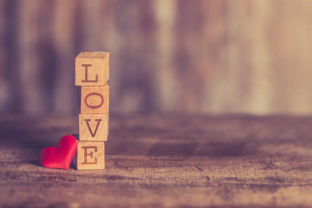 love in blocks