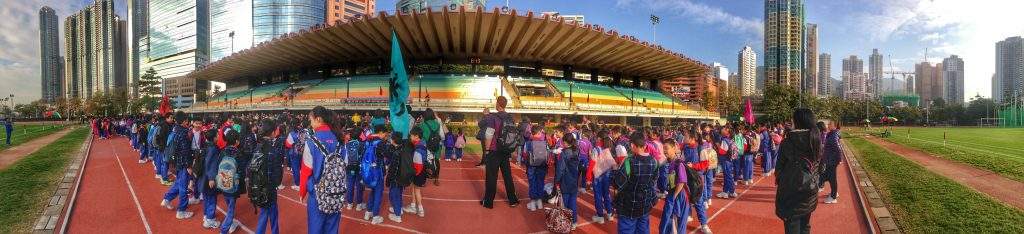 Sports day with a local school of Hong Kong