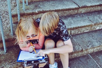 Training children to work together when they have a problem is more beneficial than you fixing it for them,