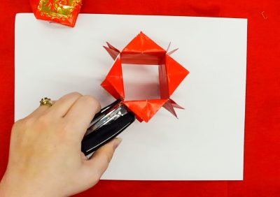 Step 9 of creating a red packet lantern