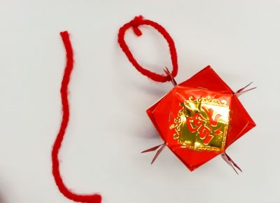 Step 15 of creating a red packet lantern