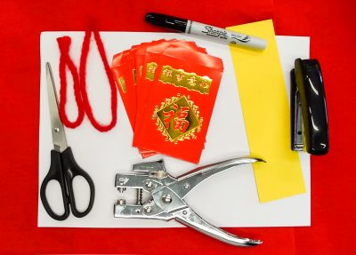 What you need to build a red packet lantern for Chinese New Year Craft | This Indulgent Life