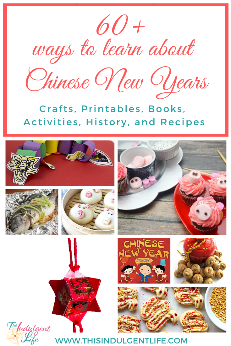 60 Ways to Learn about Chinese New Years| This Indulgent life | Want to teach your child about Chinese culture or Chinese New Year? Here are 60+ books, crafts, activities, and recipes to enjoy with your family. | #chinesenewyearscrafts #cnycrafts #redenvelopecrafts #homeschooling #teacherresources #dragoncrafts #pigcrafts #chineserecipes #yearofthepig #lionmask #liondance #springfestival #craftsforkids #preschoolcrafts #lessonsonchina #chineseculture #ChineseNewYear
