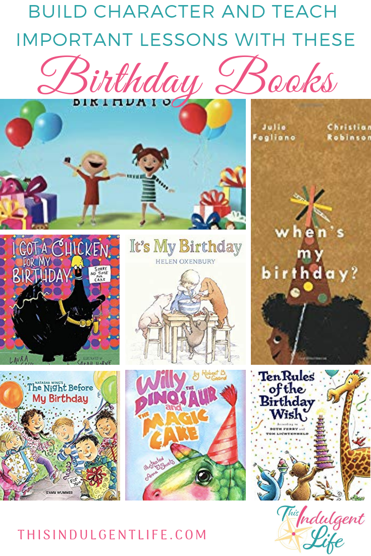 Build Character and Teach Important Life Lessons With These Birthday Books | This Indulgent Life | Birthdays can be a time filled with impatiences and disappointment. These books help your child learn to work through these moments and it helps prepare them for the proper ways to behave at a birthday party. | #drsuessbirthday #childdevelopment #childbirthdaybooks #birthdaybooks #childbirthdaygift #partygift #developingpatienceinchildren #developingcharacter #birthdaytraditions #moralofthestory #lifelessons #childrensbooks #picturebooks #booksfortoddlers
