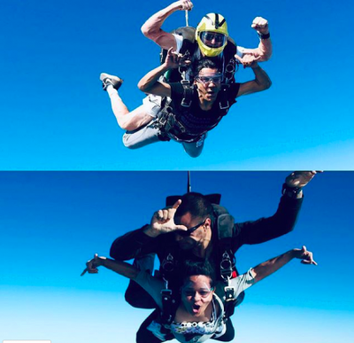 the drifty vegetarians skydiving