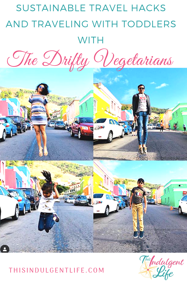 Sustainable Travel Hacks and Traveling with Toddlers with The Drifty Vegetarians | Want to make your travels more eco-friendly? Join The Drifty Vegetarians as they discuss how they're making their travels more sustainable and the challenges and triumphs of traveling with kids. | #sustainabletravel #vegetariantravel #veganfoodtours #ecofriendlytravel #travelingwithkids #travelstories #familytraveltips #worldtravelwithkids #familyvacationswithtoddlers #flyingwithtoddlers