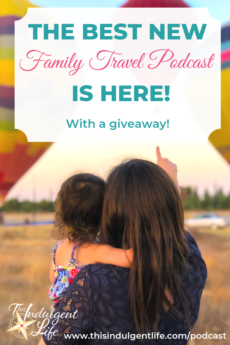 The Best New Family Travel Podcast Is Here!   Come check out the much awaited for This Indulgent Life, The Podcast! Launch Week! If you love family adventures and want to hear tips and inspirational stories from families who love to travel, then you need to listen to this podcast! Launch week is April 16-24, 2019. Don't forget to enter the giveaway!   #newpodcast #travelpodcast #familytravel #travelwithkids #launchweek #giveaway #prizepack #quiettimebook #spanishforkids #followyourdetour #airstreamlife #familyvideo #travelcoach #familyadventures #Rving #worldtravelwithkids #healthyliving #crunchymama