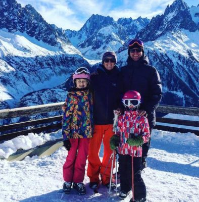 The Family Freestylers whole family skiiing in Chamonix