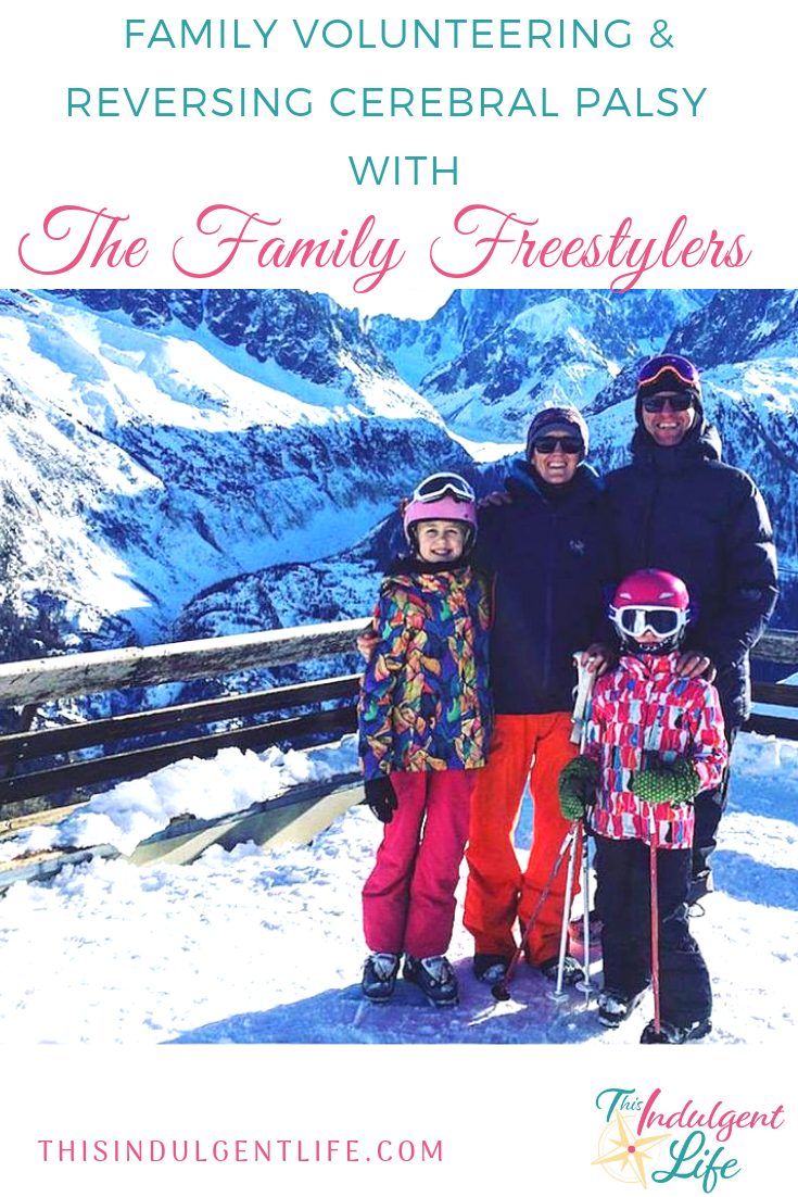 Family Volunteering & Reversing Cerebral Palsy with the Family Freestylers | On episode 3 of the podcast I interview Mags Nixon of The Family Freestylers about how skiing has helped reverse her daughter's cerebral palsy and the benefits of family volunteering. | #familyvolunteering #cerebralpalsy #cerebralpalsytreatment #familytravel #travelpodcast #familyinterview #worldschooling #borneo #thegreatprojects #apemalaysia #rainforesttrips #skiing #familyskiing #chamonixfrance