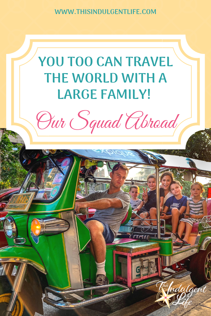 You Too Can Travel The World With A Large Family- Our Squad Abroad | Dream of taking your large family on a world-wide adenture? Afraid your kids are too young or you could never afford it? Our Squad Abroad gives helpful travel tips to help anyone make it a reality! | #largefamilytravel #travelwithkids #traveladvice #travelwithtoddlers #travelwithyoungkids #travelasia #travelaustralia #snorkelingwithkids #foodtravel #travelstories #familytravel