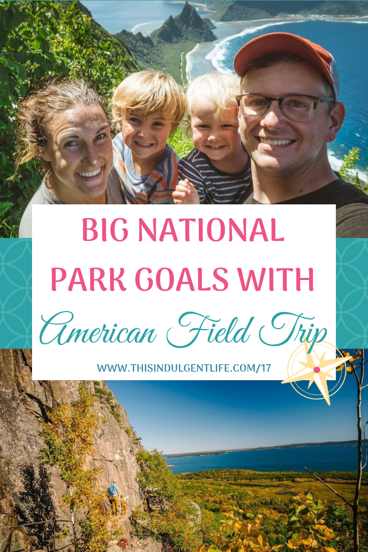 Big National Park Goals with American Field Trip   The Bowmans traveled for 18 months to 59 National Parks in a converted bus and now share their journey. Madison shares how setting big goals helped them see places they never imagined.   #nationalparks #travelgoals #intentionalliving #homeschooling #americanfieldtrip #nationalparksites #traveltheunitedstates #USAtravel #schoolbusconversion #skoolie #familytravel #travelingwithbaby #travelingwithtoddlers #travelwithkids
