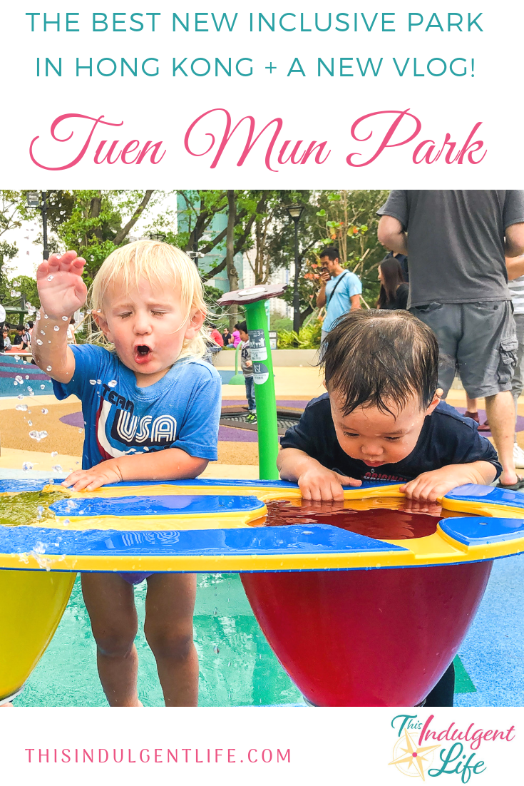 The Best New Inclusive Park In Hong Kong- Tuen Mun Park | Traveling to Hong Kong with kids? Then you need to make a stop at Tuen Mun Park. It's a bit out of the way, but this inclusive playground is a dream sensory experience for kids and adults alike! | #inclusiveplayground #travelwithkids #familytravel #travelhongkong #tuenmunpark #sensoryexperiences #watertables #HongKongwithkids