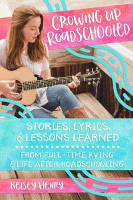 Growing up roadschooled book cover