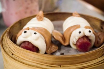 Doggy themed food at yum cha in hong kong
