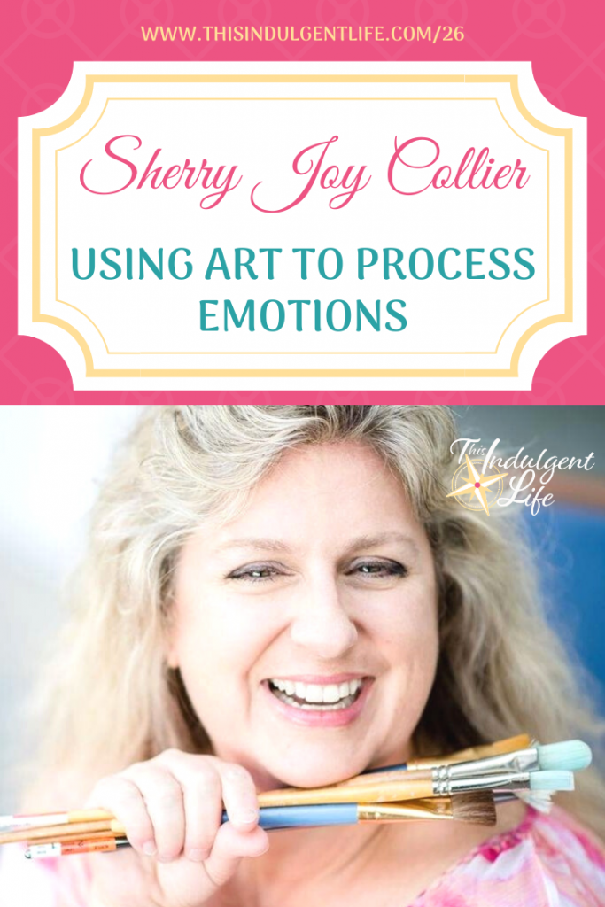 In order to reparent ourselves so we can be the calm in our children's storm, we need to begin by processing our own emotions. Art journaling can be one of the best ways to process your feelings and learn to self-regulate. | This Indulgent Life | #selfcare #arttherapy #artjournaling #artforanxiety #artfordepression #emotionalregulation #selfcareformoms